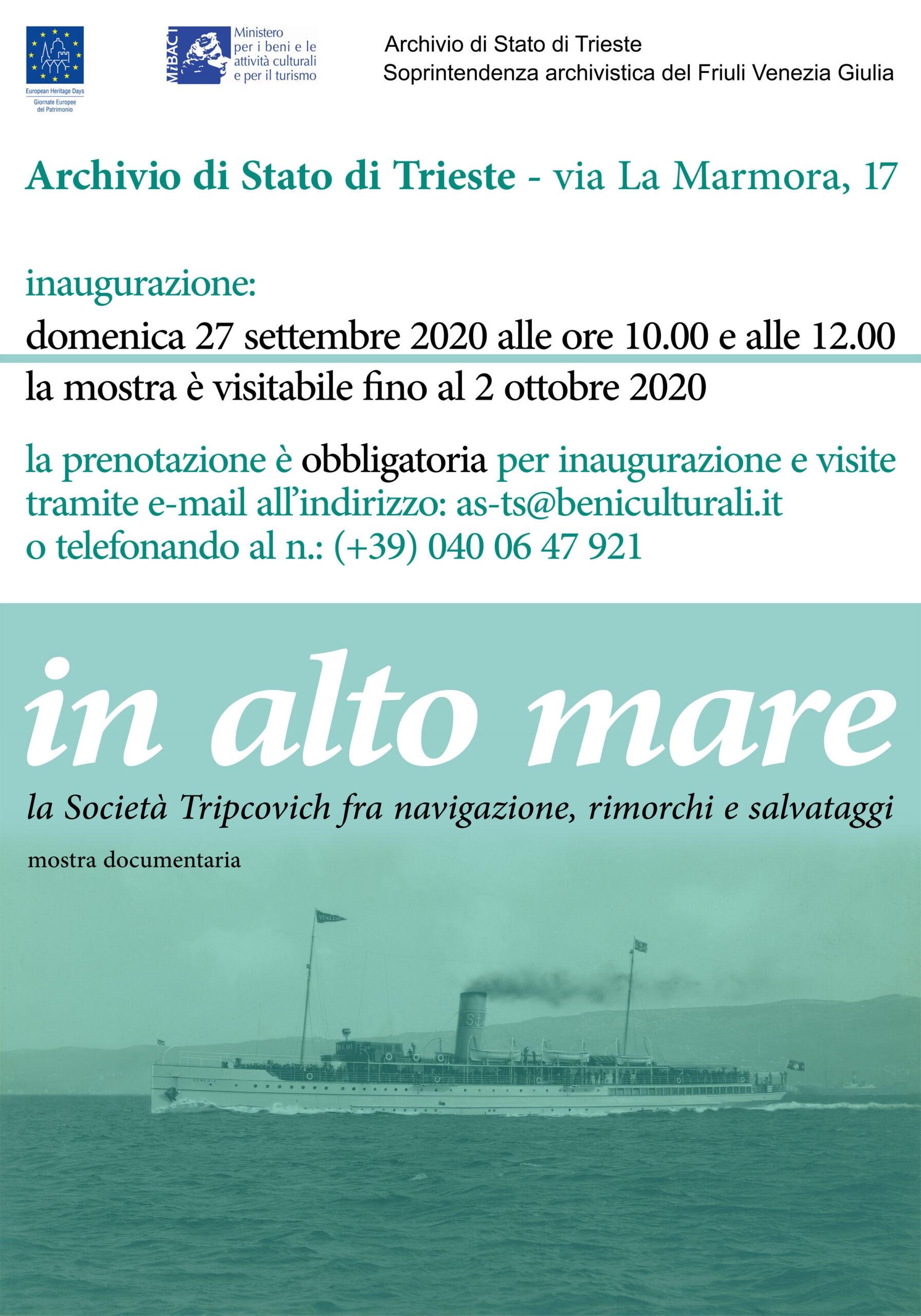 Giornate Europee Del Patrimonio 2020 – Mostra Documentaria